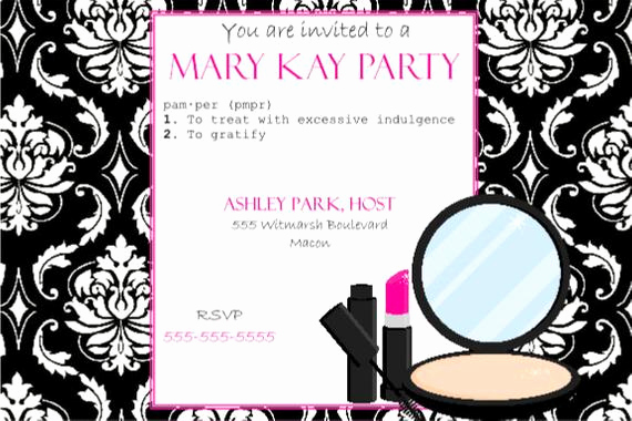 Mary Kay Party Invitation Wording Awesome Items Similar to Pink and Black Party Invitation Mary Kay