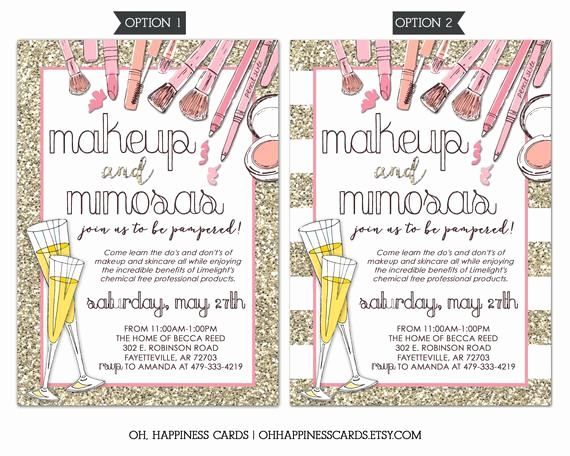 Mary Kay Party Invitation Wording Beautiful Limelight Makeup Party Invitation Mary Kay Lipsense