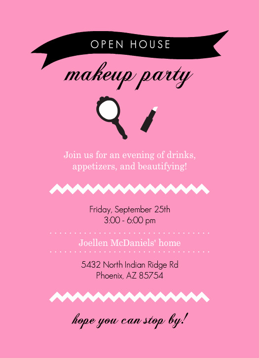 Mary Kay Party Invitation Wording Elegant Mary Kay Party Invitations
