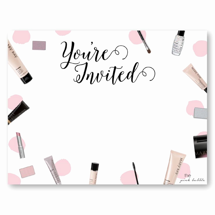 Mary Kay Party Invitation Wording New Mary Kay Party Invitations to Create Dreams Party