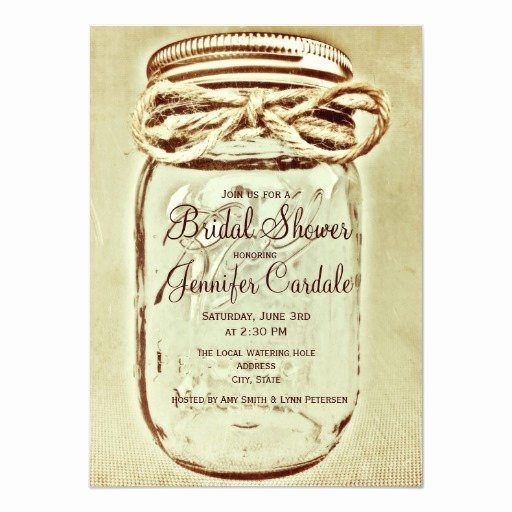 Mason Jar Bridal Shower Invitation Beautiful Mason Jar Rustic Country Bridal Shower Invitations