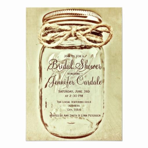 Mason Jar Bridal Shower Invitation Beautiful Mason Jar Rustic Country Bridal Shower Invitations