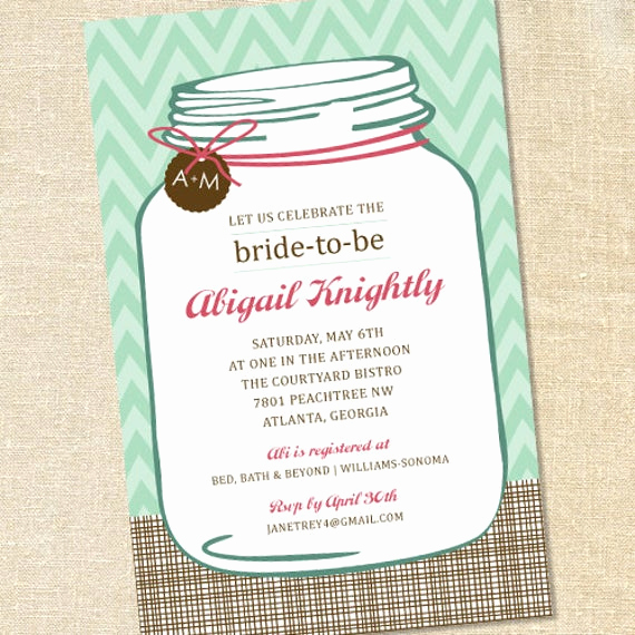 Mason Jar Bridal Shower Invitation Beautiful Sweet Wishes southern Mason Jar Bridal Shower Invitations