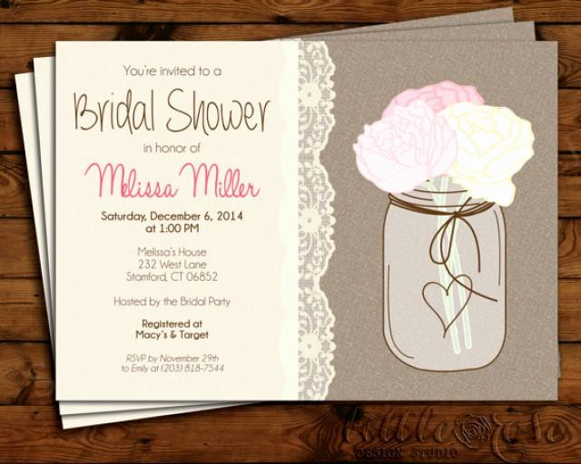 Mason Jar Bridal Shower Invitation Best Of Bridal Shower Invitation Wedding Shower Invite Bridal