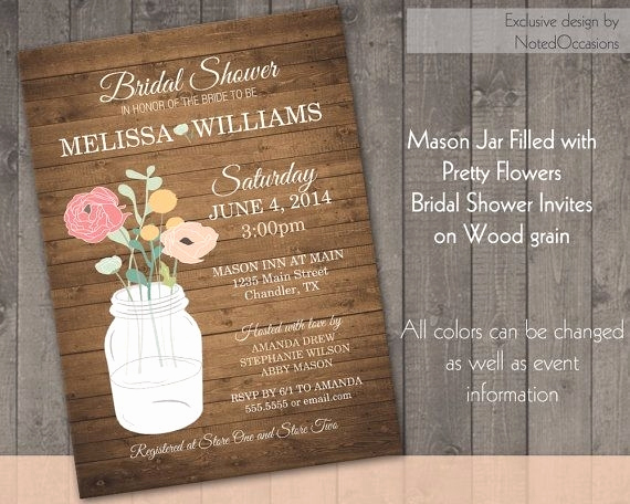 Mason Jar Bridal Shower Invitation Best Of Bridal Shower Invitations Mason Jar theme Cobypic
