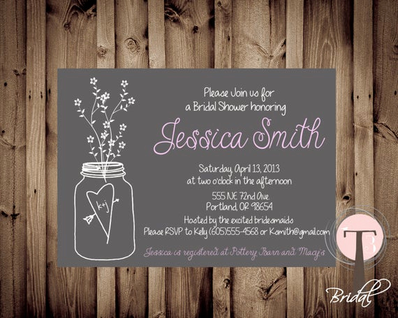 Mason Jar Bridal Shower Invitation Fresh Mason Jar Invitation Bridal Shower Invitation Wedding