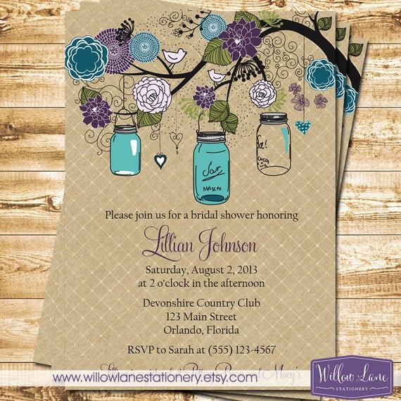 Mason Jar Bridal Shower Invitation Inspirational Mason Jar Bridal Shower Invitation Mason Jar Bridal Shower