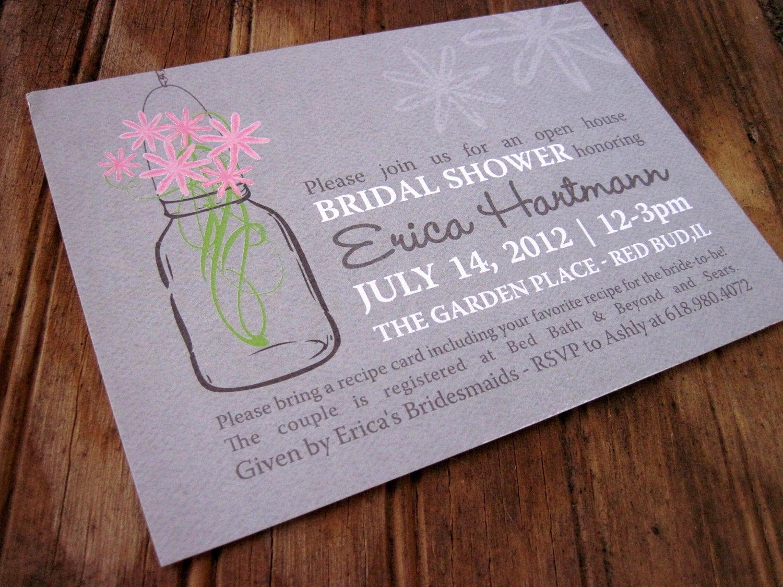Mason Jar Bridal Shower Invitation Inspirational Mason Jar Bridal Shower Invitation