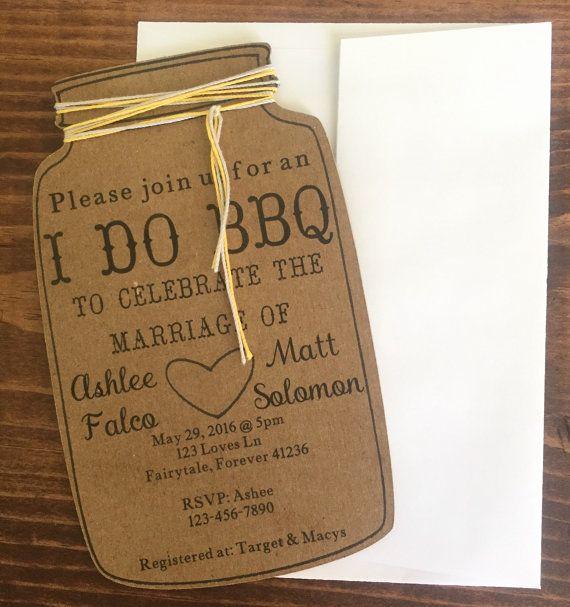Mason Jar Bridal Shower Invitation Luxury I Do Bbq Invitations Mason Jar Invitations Rehearsal by