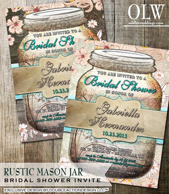 rustic mason jar bridal shower
