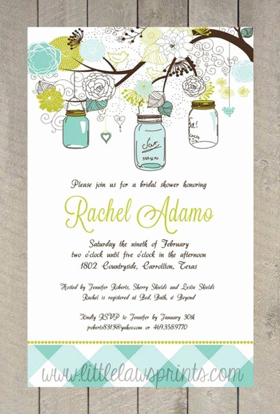 Mason Jar Bridal Shower Invitation New Mason Jar Bridal Shower Invitations