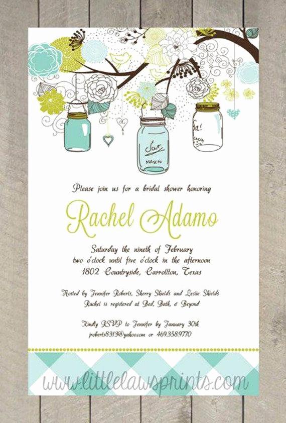 Mason Jar Bridal Shower Invitation New Mason Jar Bridal Shower Invitations
