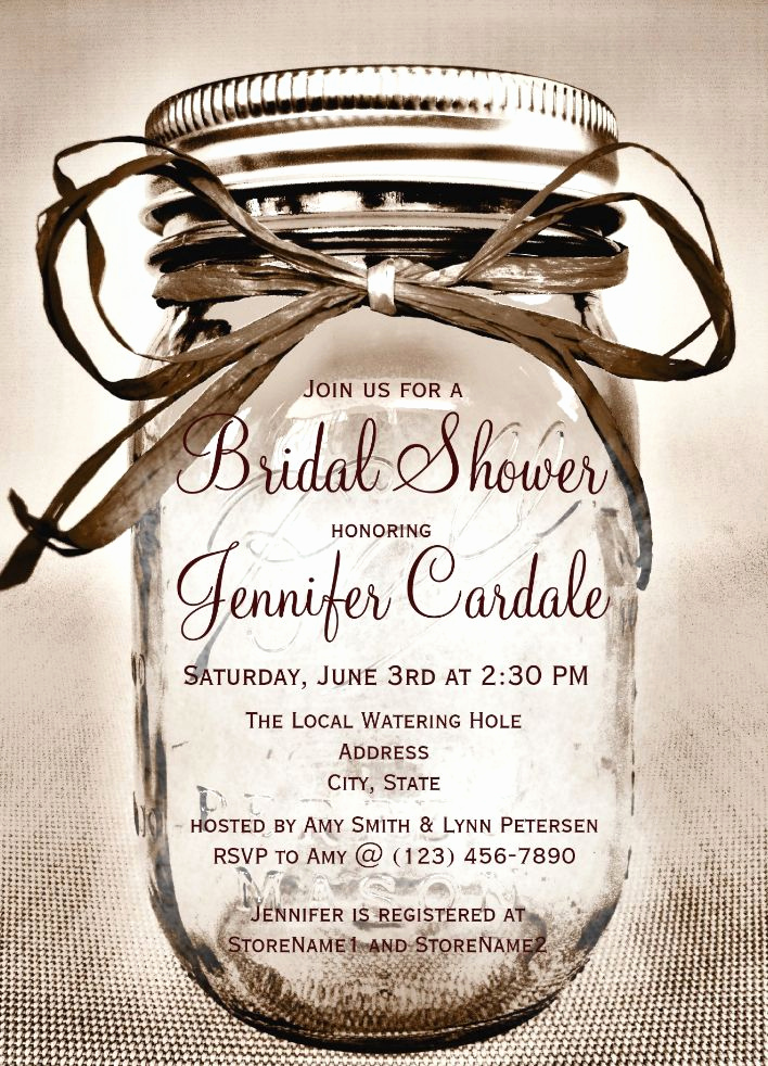 Mason Jar Bridal Shower Invitation Unique 25 Best Ideas About Mason Jar Invitations On Pinterest