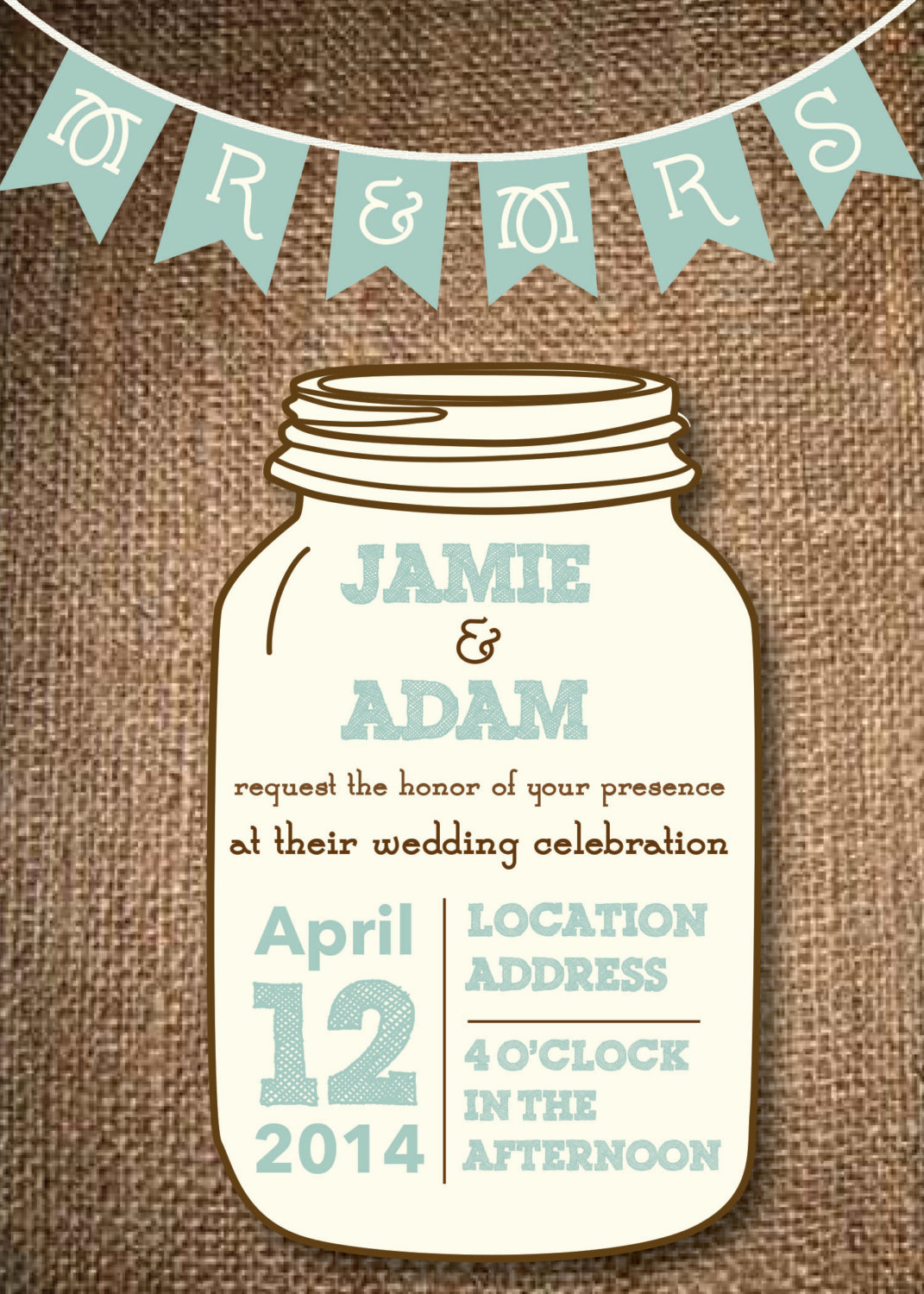Mason Jar Invitation Template Awesome Kitchen & Dining