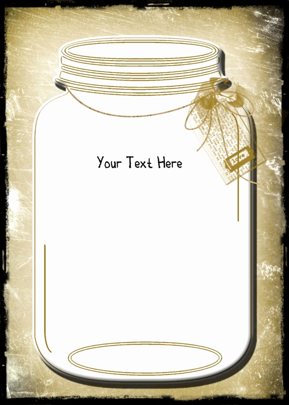 Mason Jar Invitation Template Awesome Vintage Wedding Invitation Template and Rsvpmason by