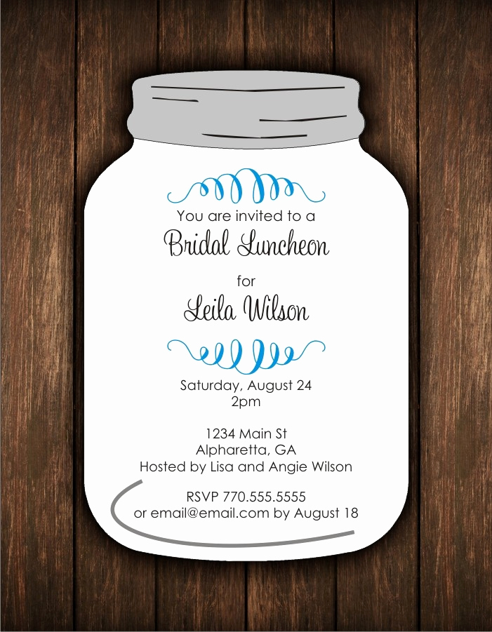 Mason Jar Invitation Template Beautiful Mason Jar Wedding Invitations Template