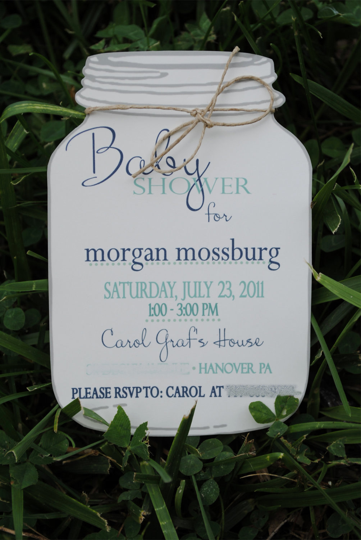 Mason Jar Invitation Template Best Of Baby Shower Invitation Mason Jar Invitations by Blueenvelope