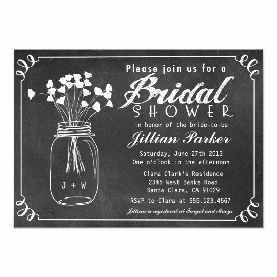Mason Jar Invitation Template Best Of Chalkboard Mason Jar Bridal Shower Invitation