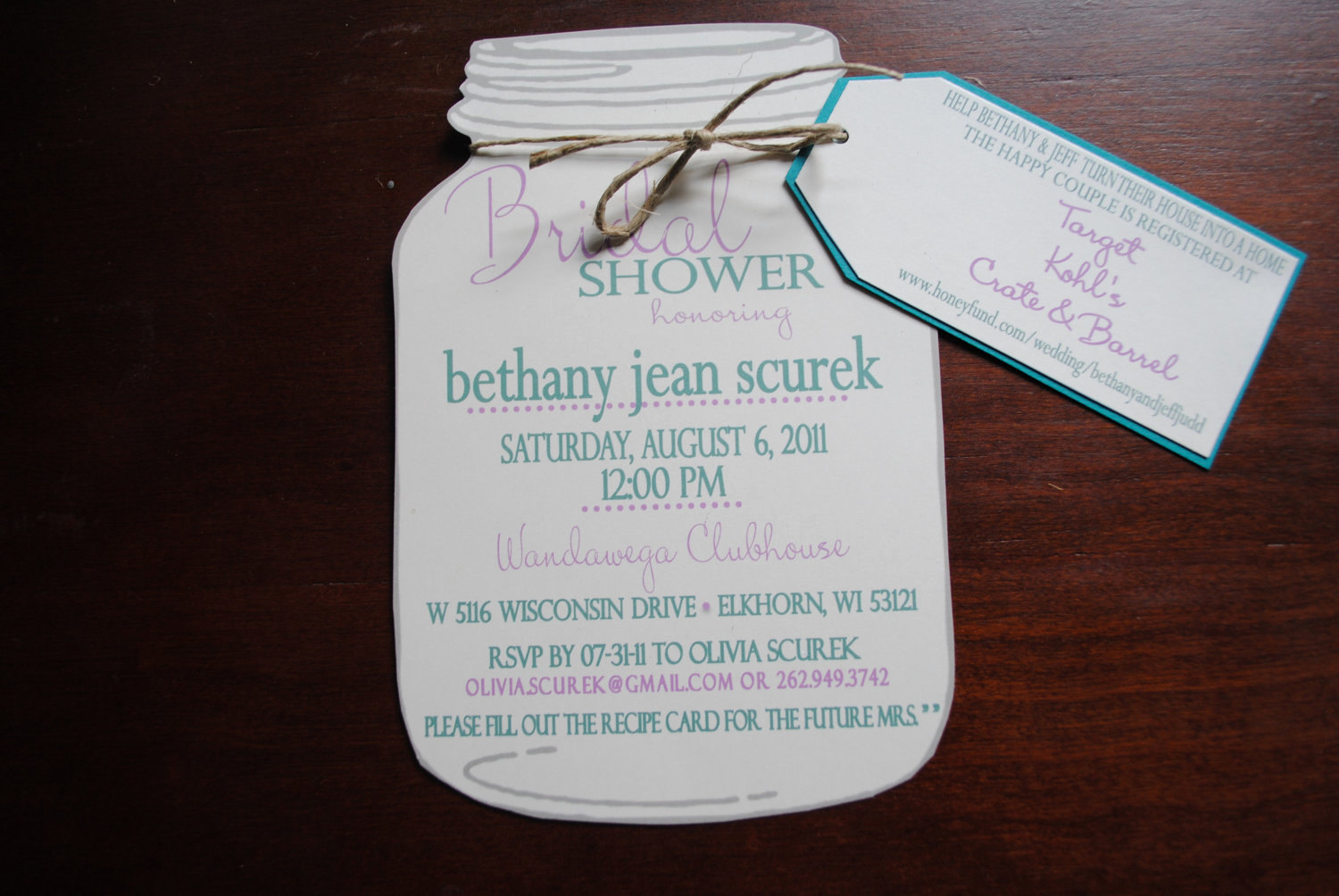 Mason Jar Invitation Template Best Of Mason Jar Bridal Shower Invitations with Registry by