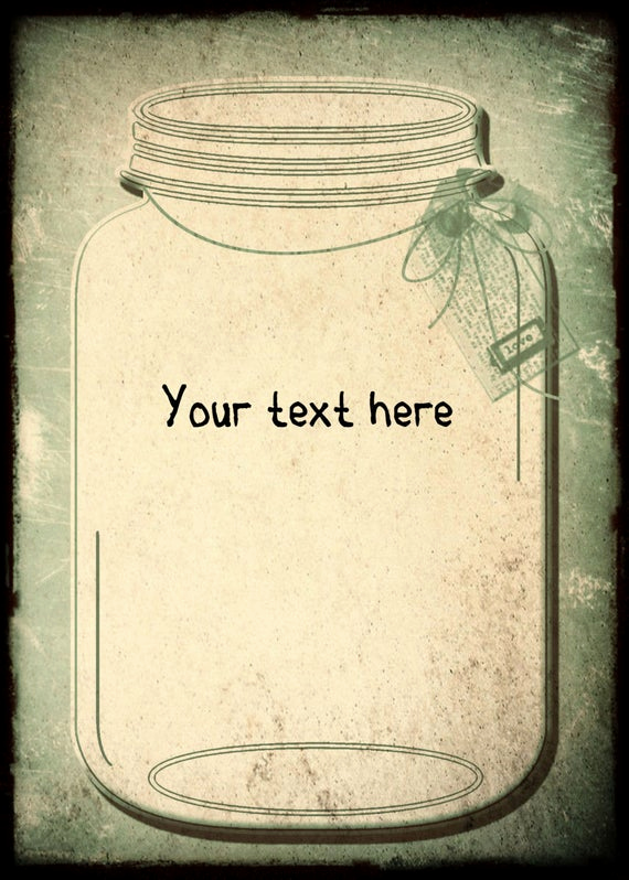 Mason Jar Invitation Template Lovely Vintage Wedding Invitation Template and Rsvpmason by