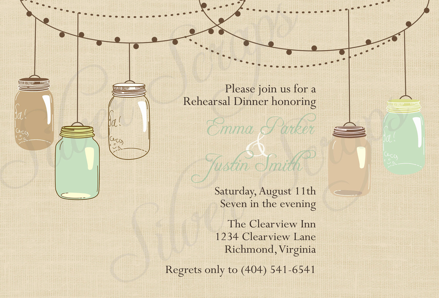 Mason Jar Invitation Template New Free Mason Jar Invitation Templates