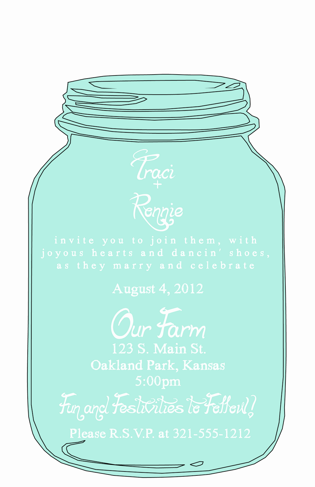 Mason Jar Invitation Template New Jar