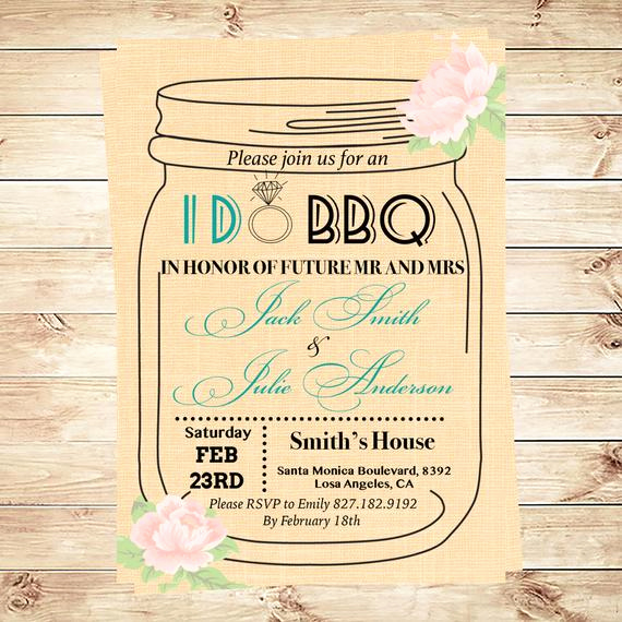 Mason Jar Wedding Invitation Template Beautiful I Do Bbq Invitation Template Mason Jar by Diypartyinvitation