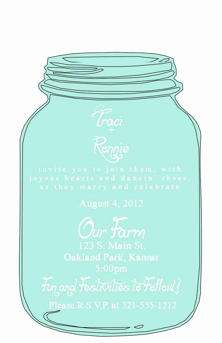 Mason Jar Wedding Invitation Template Best Of Best 25 Mason Jar Invitations Ideas On Pinterest