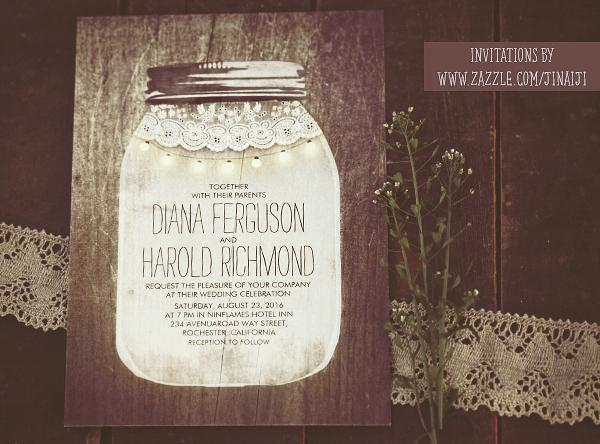 Mason Jar Wedding Invitation Template Fresh Mason Jar Weddings Wedding Invitations and String Lights