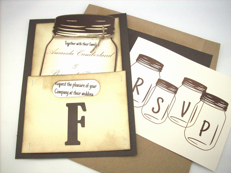 Mason Jar Wedding Invitation Template Luxury Mason Jar Wedding Invitation Personalized by Scrappingoodtimes