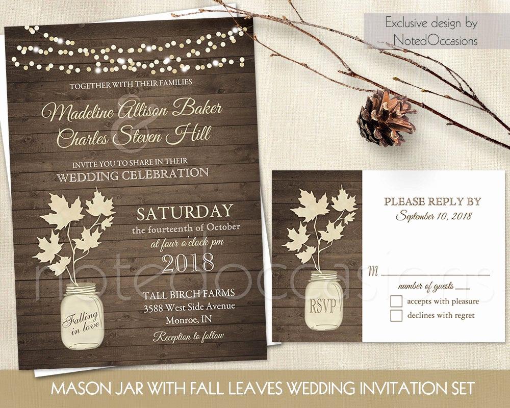 Mason Jar Wedding Invitation Template Luxury Mason Jar Wedding Invitation Rustic Mason Jar Country Wedding