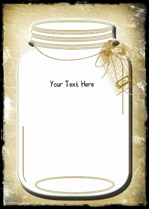 Mason Jar Wedding Invitation Template Luxury Vintage Wedding Invitation Template and Rsvpmason by