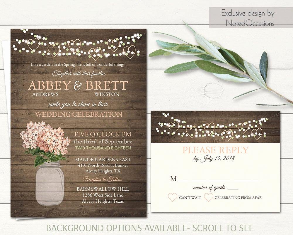 Mason Jar Wedding Invitation Template New Mason Jar Wedding Invitation Printable String Lights