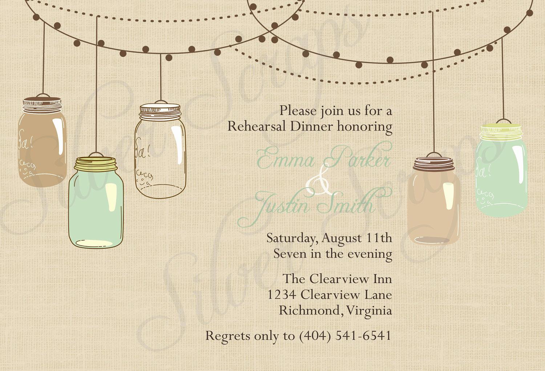 Mason Jar Wedding Invitation Template Unique Free Mason Jar Invitation Templates
