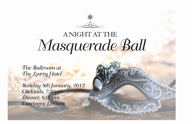 Masquerade Ball Invitation Wording Beautiful Masquerade Ball Invitation Janine Wilcock Design Portfolio