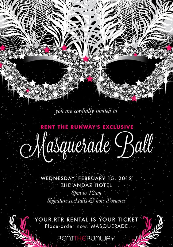 Masquerade Ball Invitation Wording Best Of Exclusive Invite to Rent the Runway's Masquerade Ball