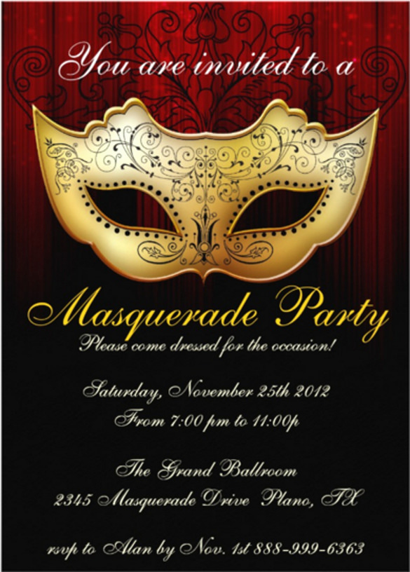 Masquerade Ball Invitation Wording Fresh 20 Masquerade Invitation Templates Word Psd Ai Eps