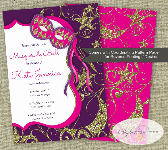 Masquerade Ball Invitation Wording Unique 20 Masquerade Invitation Templates Word Psd Ai Eps