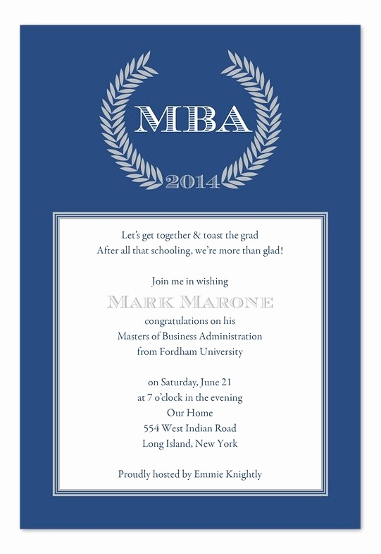 Masters Degree Graduation Invitation Wording Best Of Wording for Graduation Invitations Cobypic