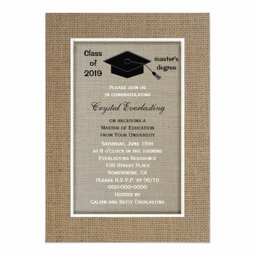 Masters Degree Graduation Invitation Wording Lovely Masters Degree Graduation Invitation