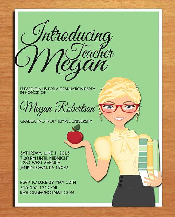 Masters Graduation Invitation Wording Awesome School Teacher Graduation Invitation Education Graduation