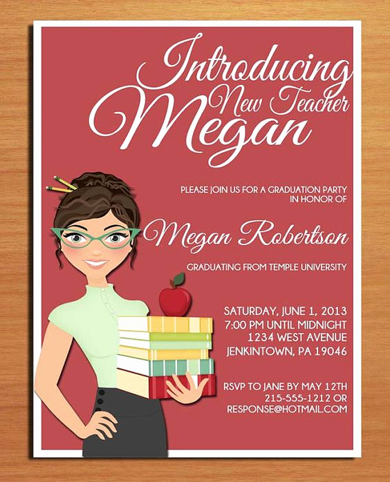 Masters Graduation Invitation Wording Beautiful Cartoon Invitations and Teaching On Pinterest