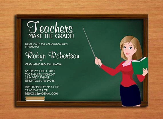 Masters Graduation Invitation Wording Best Of School Teacher Graduation Invitation Education Graduation
