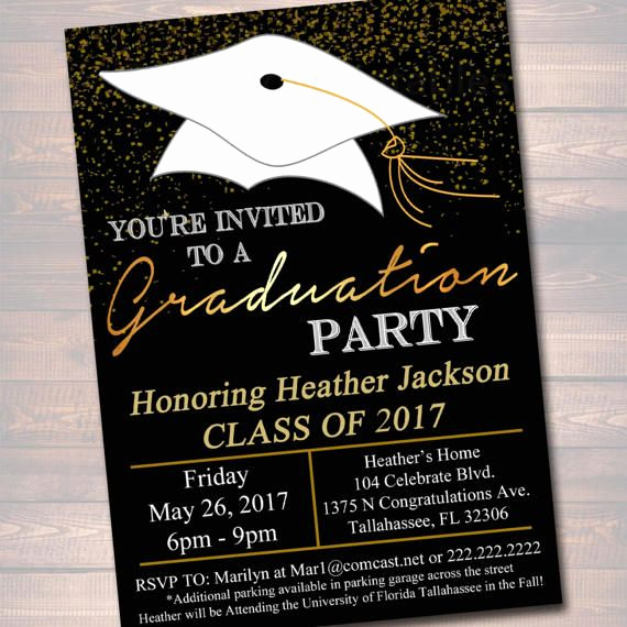 Masters Graduation Invitation Wording Inspirational Editable Graduation Party Invitation High School