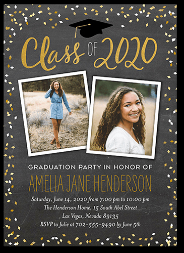 Masters Graduation Party Invitation Wording Beautiful Chalked Confetti Class 5x7 Stationery Card by Blonde