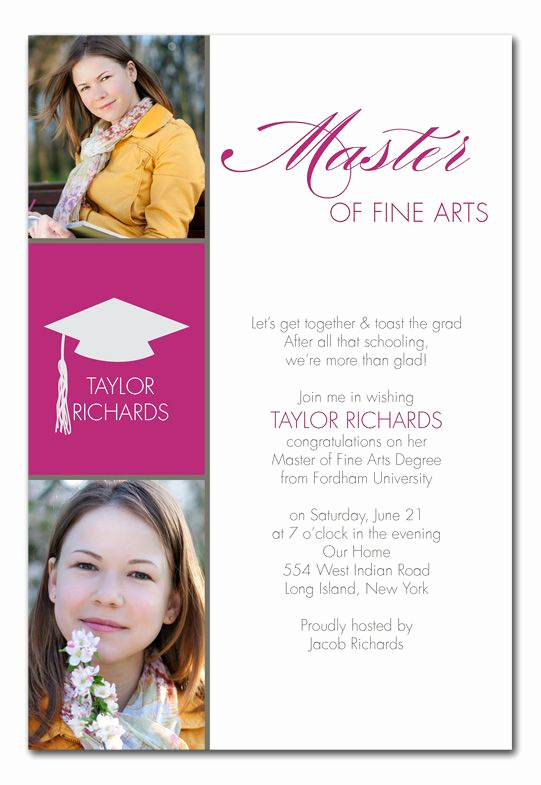 Masters Graduation Party Invitation Wording Beautiful Masters Grad Graduation Announcements Grad