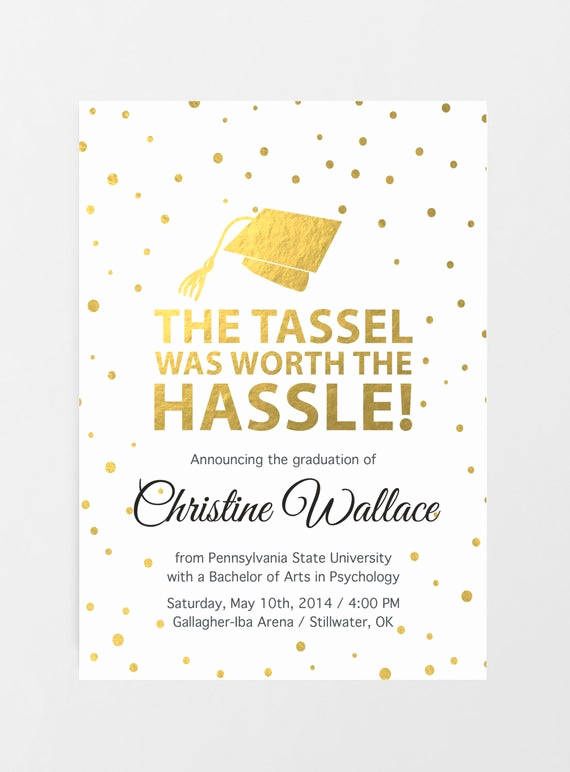 Masters Graduation Party Invitation Wording Luxury Printable Graduation Invitation Graduation Announcement