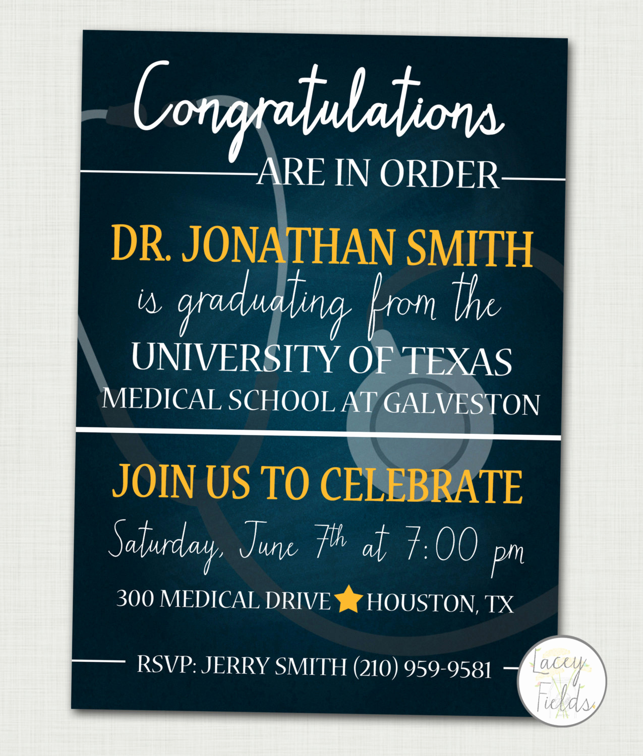 Medical School Graduation Invitation Beautiful Medical School Graduation Invitation Medical School Graduation