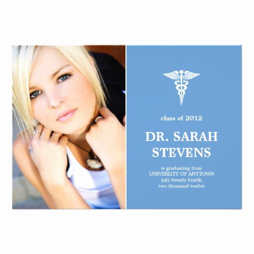 Medical School Graduation Invitation Best Of Caduceus Medical Graduation Invitation