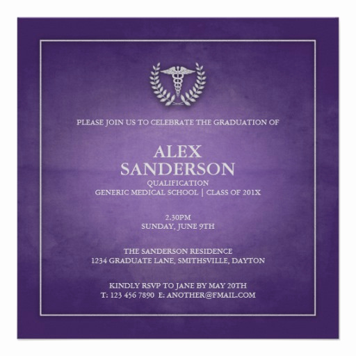 Medical School Graduation Invitation Lovely Personalized Medical School Graduation Invitations